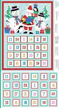 Makower - Jolly Santa - Advent Calendar panel - Christmas