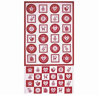 Makower - Scandi - Advent Pocket Calendar - Red