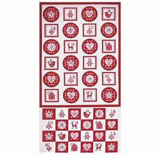Makower - Scandi - Advent Pocket Calendar panel - Red