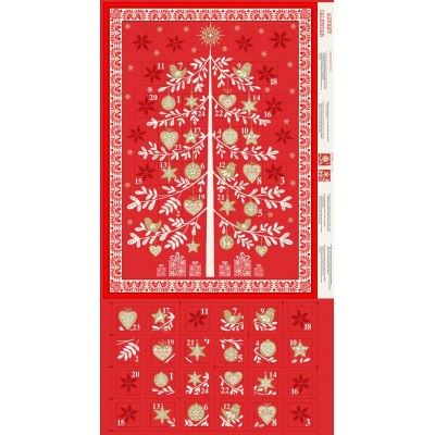 Makower - Scandi - Advent Tree Calendar - Red