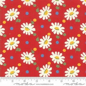 Moda - Bubble Pop - American Jane - Red with flowers