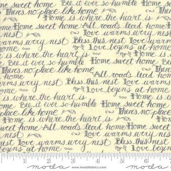 Moda - Home - Script Cream - Kathy Schmite