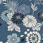 Makower - Indigo - Floral Montage Blue