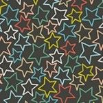 Makower - Merry Chrismas - Stars Grey