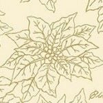 Makower - gold metallic poinsettia on cream