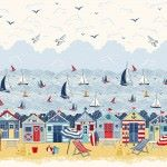 Makower - Sail Away - Double Border   (not available as a fat quarter)