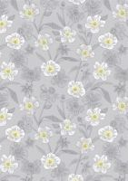 Lewis & Irene - Botanic Garden - Rambling floral on lightest grey