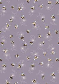 Lewis & Irene - Botanic Garden - Bumblebee on warm lilac
