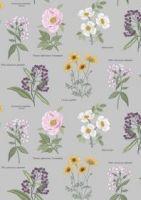 Lewis & Irene - Botanic Garden - Botanic flowers on light grey