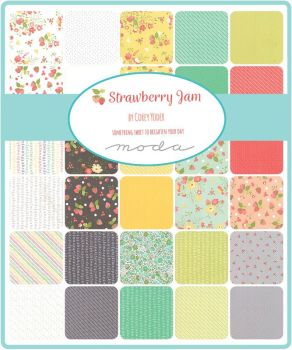 "Moda - Strawberry Jam by Corey Yoder - 2 1/2"" strips Jelly Roll"