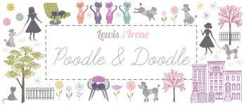 "Lewis & Irene - Poodle & Doodle Fabulous 40s - 2 1/2"" strips x 40"