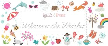 "Lewis & Irene - Whatever the Weather - Fabulous 40s - 2 1/2"" strips x 40"