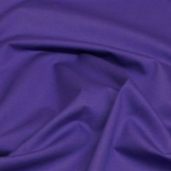 Rose & Hubble - 100% Plain Cotton Poplin - Purple