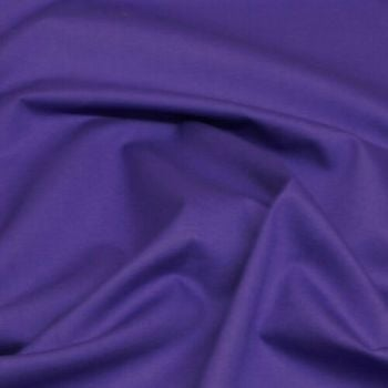 Rose & Hubble - 100% Plain Cotton Poplin - Purple