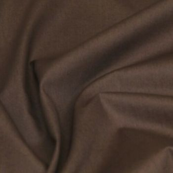 Rose & Hubble - 100% Plain Cotton Poplin - Brown