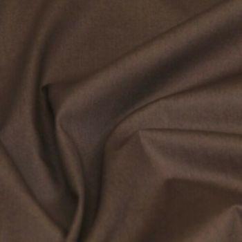 Rose & Hubble - 100% Plain Cotton Poplin - Brown