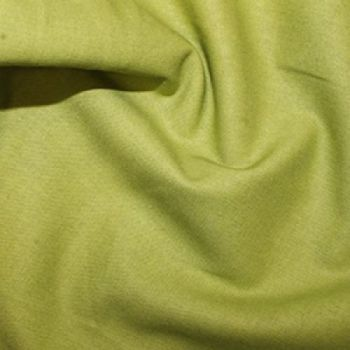 Rose & Hubble - 100% Plain Cotton Poplin - Chartreuse - REMNANT