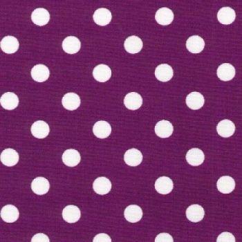 Rose & Hubble - 100% Cotton Poplin - Purple 7mm spot