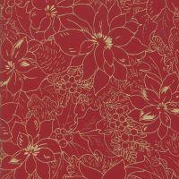 MODA - Cardinal Song - Metallic - Poinsettia - Christmas