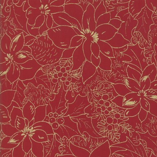 MODA - Cardinal Song - Metallic - Poinsettia