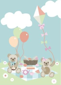 Fabric Freedom - Teddy Bear Picnic Panel