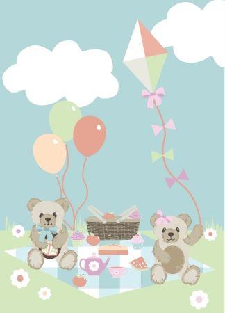 Fabric Freedom - Teddy Bear Picnic Panel