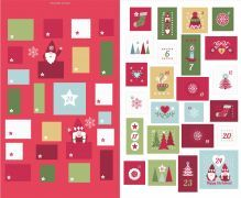 Lewis & Irene - Hugge Christmas Advent Calendar panel red