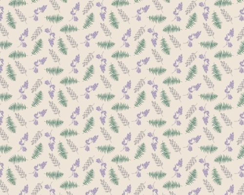 Fabric Freedom - Highland Lavender and leaves fabric