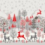 Makower - Scandi - Christmas Double Border