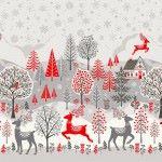Makower - Scandi - Christmas Double Border