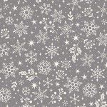 Makower - Scandi Snowflakes Grey
