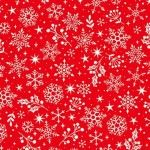 Makower - Scandi Snowflakes Red