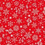 Makower - Scandi Snowflakes Red