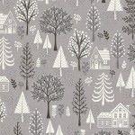 Makower - Scandi Trees Grey
