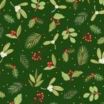 Makower - Yuletide - Christmas Scatter green