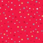 Makower - Let it Snow - Christmas Multi Stars Red