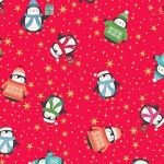 Makower - Let it Snow - Christmas Penquins Red