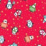 Makower - Let it Snow - Christmas Penquins Red