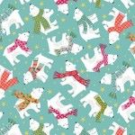 Makower - Let it Snow - Christmas Polar Bears Blue