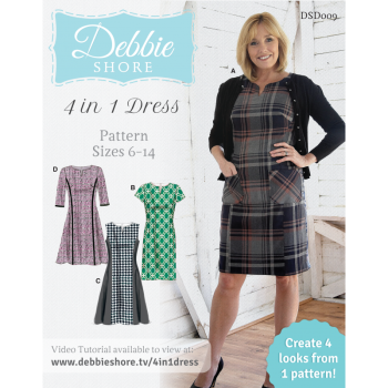 Debbie Shore - 4 in 1 dress pattern sizes 6 -14