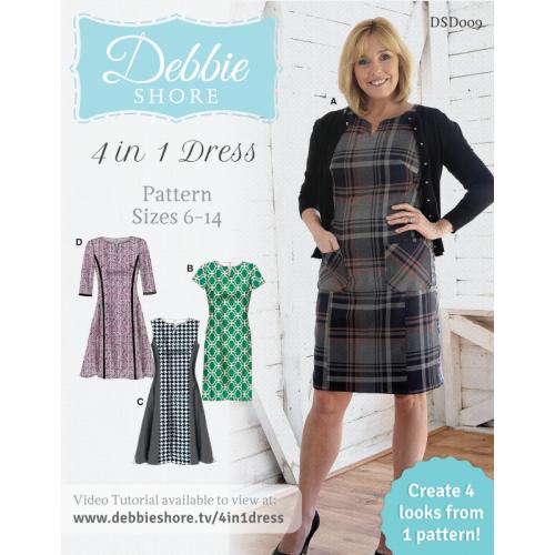 Debbie Shore - 4 in 1 dress pattern sizes 6 -14