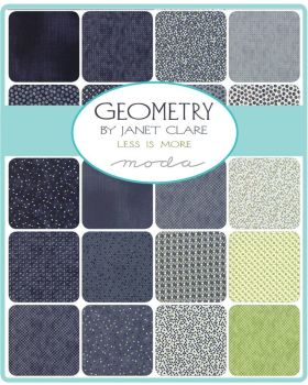 "Moda - Geometry by Janet Clare - 2 1/2"" strips Jelly Roll"
