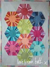 Beth Studley - Hexa-scrappy Quilt Paper pattern