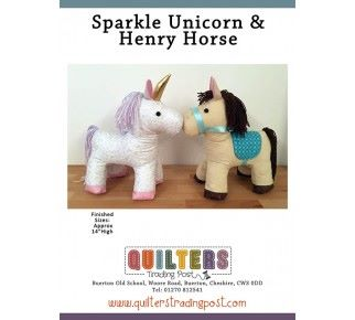 Quilters Trading Post - Unicorn paper pattern