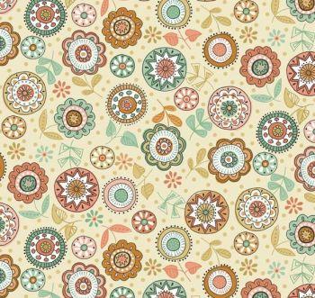 Makower - Doodle Days - Floral - REMNANT