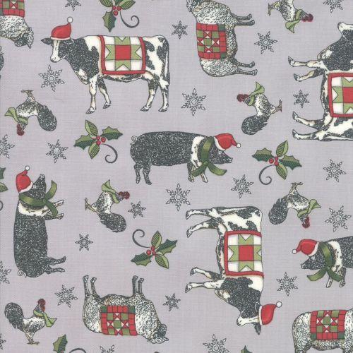 MODA -Homegrown Holidays - by Deb Strain - SILO GREY
