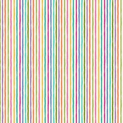 Makower - Katies's Cats - Chalky Stripe Cream