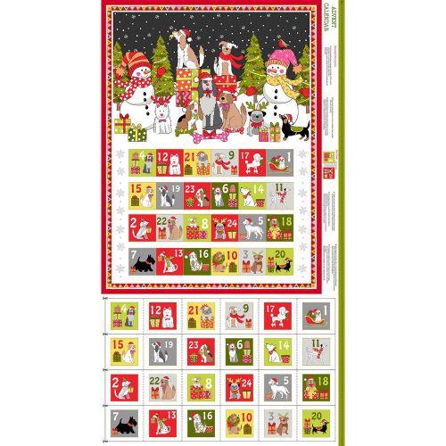 Makower - Yappy Christmas  Advent Calendar panel