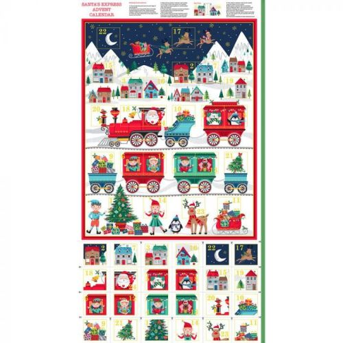 Makower - Santa Express - Christmas Advent Calendar panel
