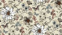 Makower - Dream - Exotic Flower - Cream - REMNANT